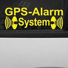 2 Pz. Allarme GPS GIALLO Finestra Disco Adesivo Tatuaggio AUTO DECORAZIONE PELLICOLA parte interna