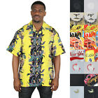 Moda Essentials Assorted Men's Short Sleeve Button Up Shirt Floral Hawaiian Silk