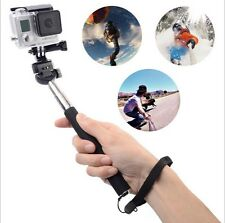 Extendable Monopod Pole + Tripod Mount For GoPro 1 2 3 3+ 4 Camera Accessories