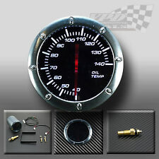 "OIL TEMP 52MM / 2"" WHITE LED SMOKED FACE GAUGE FOR DASH OR POD HOLDER"