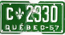 ���� ���� AUTHENTIC CANADA 1957 QUEBEC LICENSE PLATE.  C-2330