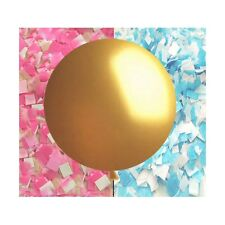 "Gender Reveal Balloon in GOLD!!! - Giant 36"" balloon with confetti"