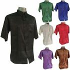 NEW Mens Jacquard Thai Silk Shirts/Casual Button Down Vintage Paisley Patterned