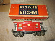 Lionel Prewar 657 Caboose with tattered box.