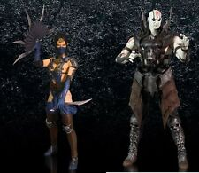 "In STOCK Mezco Mortal Kombat X 10 ""Kitana + Quan Chi"" SET Action Figure"
