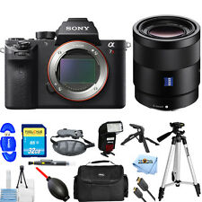 Sony Alpha a7R II Mirrorless Digital Camera W/ Sonnar T* FE 55mm ZA! PRO KIT NEW