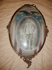 World War One Soldier, For Liberty, In Metal Frame with Bubble Glass 14x20""
