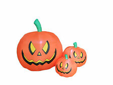 4 Foot Halloween Inflatable Yard Party Blowup Decoration Three Pumpkins Patch