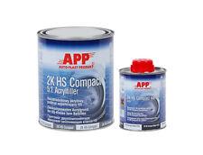 Apprêt garnissant compact gris foncé 2k HS + durcisseur+ diluant=+1,6 kg