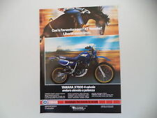 advertising Pubblicità 1988 MOTO YAMAHA XT 600 4V 4 VALVES