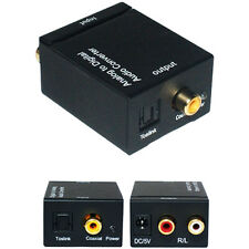 2 RCA Analogue To Digital Coaxial/Optical Soundbar Converter Adapter Audio Cable