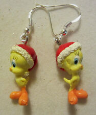 NORA WINN ~TWEEDY BIRD ~ Earrings 925 Christmas LOONEY TUNES MOVIE CHARACTERS