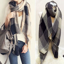 Women Ladies Winter Tartan Plaid Scarf Neck Shawl Wrap Warm Pashmina Large Stole