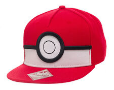 OFFICIAL POKEMON POKEBALL RED AND WHITE 3D SNAPBACK CAP *BRAND NEW*