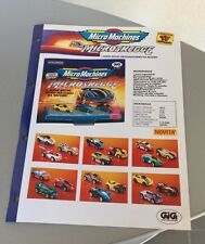 Vintage PAPER EXCLUSIVE# GALOOB MICRO MACHINES MICROSKEGGE  #  RARE
