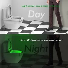 12 Color Changing Adjustable Toilet Seat Light Light Human Motion Activated Lamp