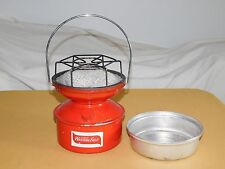 VINTAGE CAMPING HUNTING  7 1/2' HIGH WARDS WESTERN FIELD PORTABLE RED STOVE