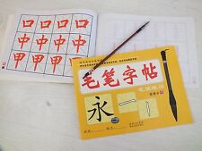 CHINESE BRUSH WRITING PRACTISE COPY PAPER EXERCISE BOOK 1 BRUSH - BEGINNER  A8