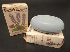 Vintage Crabtree & Evelyn ENGLISH LAVENDER TUDOR Country Soap Lot of 2! 3 oz