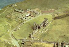 Postcard  Yorkshire Whitby Abbey arial view unposted