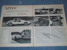 "1965 Fiberfab Aztec Kit Car Vintage Info Article ""A VW with Bolt-On Body"""