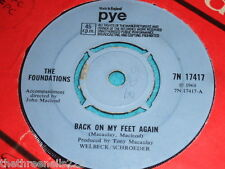 "VINYL 7"" SINGLE - THE FOUNDATIONS - BACK ON MY FEET AGAIN - 7N 17417"