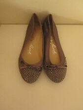 BN PERFECTLY PAIRED BY NEXT SILVER STUD TRIM BALLET PUMPS SIZE 42/8