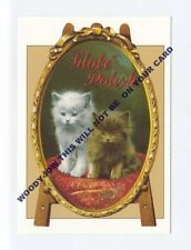 ad395 - advert for Globe Polish - Kitten / cat - art - postcard