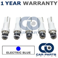 5X T5 286 74 17 18 BLUE INSTRUMENT INDICATOR DASHBOARD SPEEDO DOME LED BULBS