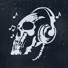 DJ Skull Car Decal Vinyl Sticker For Bumper Or Panel Or Window