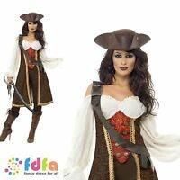 CARIBBEAN HIGH SEAS PIRATE WENCH - UK 8-18 - womens ladies fancy dress costume