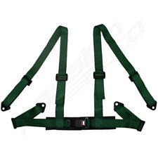 GREEN 4 POINT RACING SEAT BELT HARNESS FOR CAR/TRACK DAY/OFF ROAD BUGGY NEW