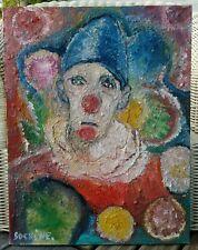 Ecole Russe  tableau Huile sur Toile  signée iren SOSKINE XXEME le Clown