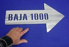 """SCORE BAJA 1000 500 ARROW SIGN 1/4"""" COLD ROLLED STEEL 20"""" LONG OFFROAD MEXICO"""
