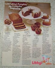 1971 advertising page - Libby's Pumpkin muffins cake nut bread recipes AD ADVERT