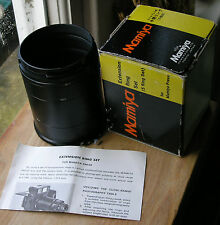 genuine Mamiya Press extension ring tubes set & intructions