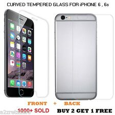 Apple iPhone 6 ,6s CURVED Tempered Glass Screen Guard Protector FRONT AND BACK