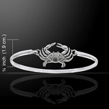 Crab .925 Sterling Silver Spring Lock Bracelet by Peter Stone