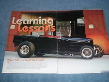 """1931 Ford Model A Roadster Pickup Hot Rod Article """"Learning Lessons"""""""