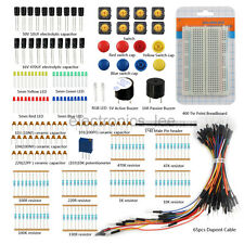 Switch Breadboard LED Electrolytic capacitor  Resistor Electronic component kits