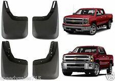 Molded 2014-2016 Chevy Silverado No Drill Mud Flaps Front + Rear New Free Ship