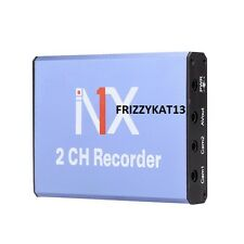 Mini dvr enregistreur carte sd 128GB realtime 25fps 2ch dvr détection de mouvement & caméra