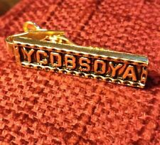 VINTAGE GOLD PLATE YCDBSOYA YOU CAN DO BUSINESS SITTING ON YOUR ASS TIE BAR
