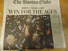 PATRIOTS WIN AGAIN     THE BOSTON GLOBE