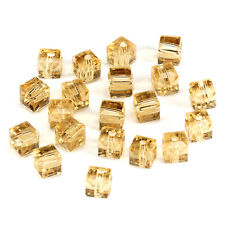 10pcs Gsha 8mm Faceted Square Cube Cut glass crystal Spacer beads