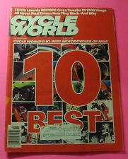 CYCLE WORLD MAGAZINE OCT/1984..THE TEN BEST MOTORCYCLES OF 1984...TESTS