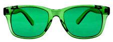 Hipster Mens Designer Poker Sunglasses Green Frame/Lens Retro Vintage Wayfarer