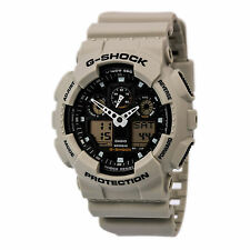 Casio GA100SD-8A Men's G-Shock Military Sand Analog-Digi Beige Resin Strap Watch