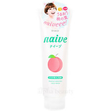 Kracie Japan naive Peach 2-in-1 Facial Cleansing Foam + Makeup Cleanser S 190g