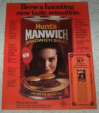 1969 ad page - Hunt's MANWICH sandwich Sloppy Joe sauce coupon ADVERT Clipping